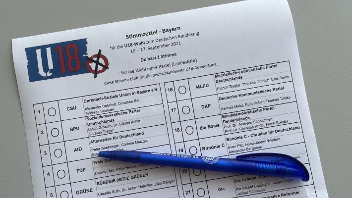 U18-Wahl: Auch Kinder und Jugendliche dürfen ihre Stimme abgeben